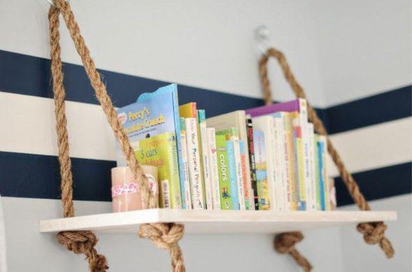 Подвесная полка для книг