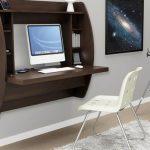 Стол, совмещенный с полкой в космической комнате
