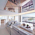 Зеркальный потолок для гостиной с прекрасным видом