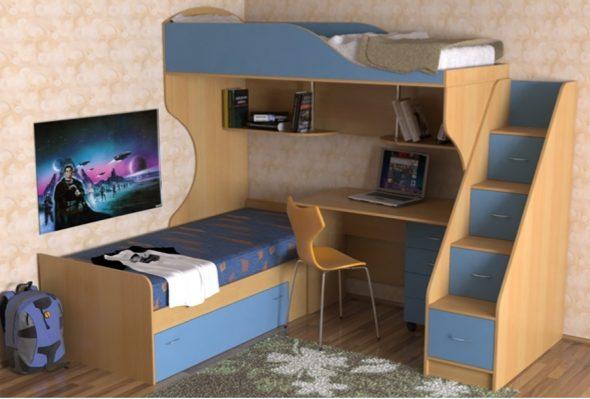 Детская кровать с рабочей зоной