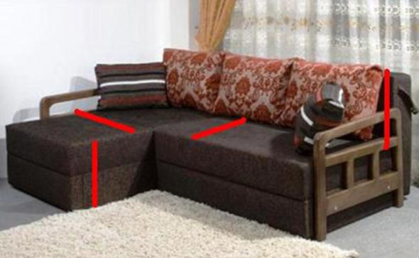 Снимаем мерки с дивана