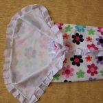 Летний плед-одеяло с цветочками для малышки