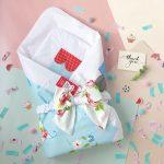 Летний весенний конверт-одеяло на выписку для новорожденного в стиле прованс