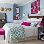 Мебель разных оттенков для уютной спальни