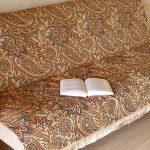 Накидка на диван с бахромой в восточном стиле