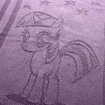 Плед с пони фиолетового цвета
