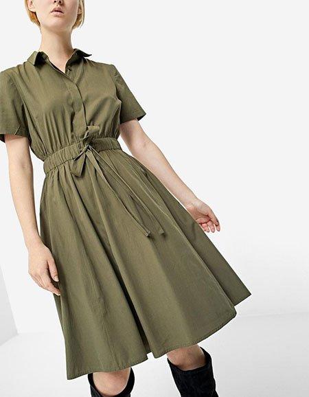 Платье-рубашка из поплина