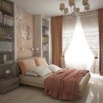 Расположение мебели для маленькой спальни