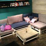 Разноуровневый диван из паллет своими руками