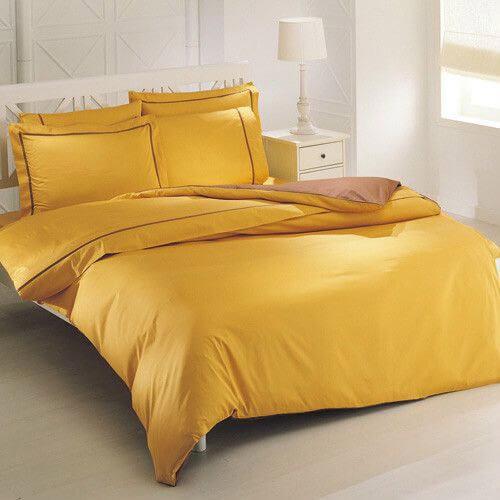 Постельное из сатина желтого цвета