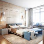 Строгое покрывало для современной спальни