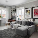 Угловой серый диван самостоятельного изготовления