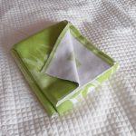 Зеленое фланелевое детское одеяло