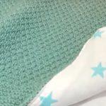 Зеленый детский плед с звездами