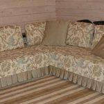 Жаккардовое покрывало на диван