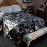 Большое лоскутное покрывало на двуспальную кровать своими руками