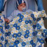 Детский цветочный плед для мальчика