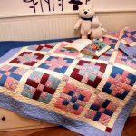 Детское стеганое одеяло с интересным рисунком