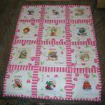 Нежное одеяло для девочки в стиле пэчворк