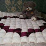 Одеяло с сердцем в технике пэчворк