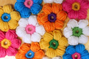 Оригинальные пышные цветочки
