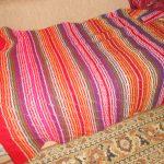 Оригинальный разноцветный плед на кровать