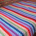 Плед афгаское вязание