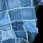 Плотное и крепкое джинсовое покрывало