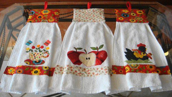 Деорированные полотенца для кухни