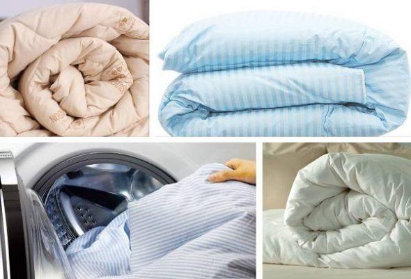 Пуховое одеяло разрешено стирать в машинке