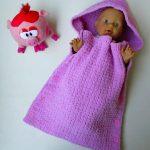 Сиреневое одеяло на пуговицах для малыша