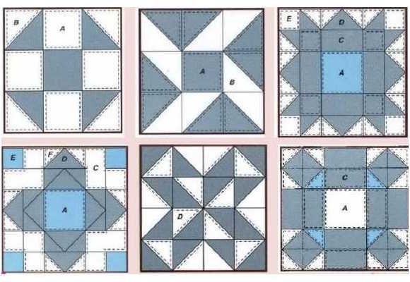 Схема лоскутного одеяла