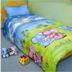 Детский постельный комплект для ребенка садиковского возраста