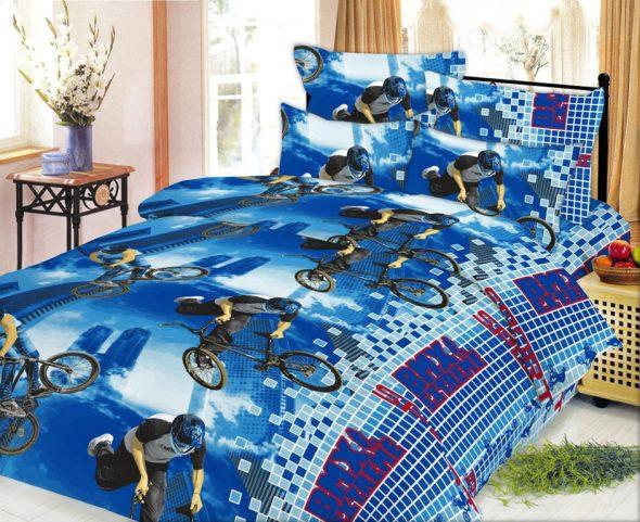 Красивый и яркий комплект постельного