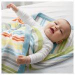 Летнее небольшое плед-одеяло для новорожденного