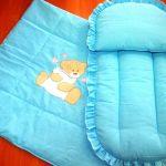 Маленькое одеяло и матрасик с подушкой для колыбельки или коляски