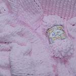 Нежные розовые косички из необычной плюшевой пряжи