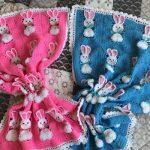 Плед для девочки и мальчика с зайчиками