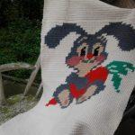 Плед-одеяло с красивым зайчиком