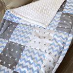 Плюшевое одеяло в стиле пэчворк