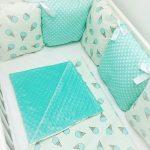 Постельное белье в кроватку из плюша и хлопка
