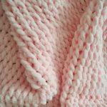 Розовые косички из нежного плюша