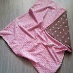 Розовый плед из плюша Минки