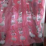 Розовый плед с зайчиками для девочки