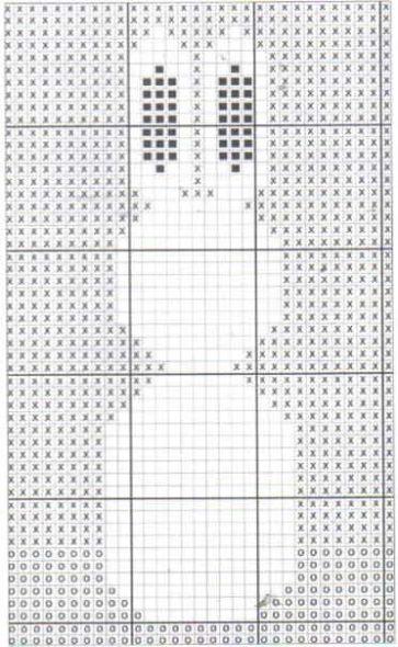 Схема для вязания пледа с зайчикам