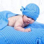Вязанное одеяло для самых маленьких