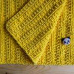 Желтый плюшевый плед своими руками