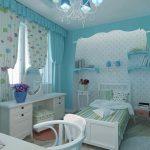 Голубая тематика в оформлении детской