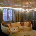 Потолочный карниз с подсветкой для натяжных потолков