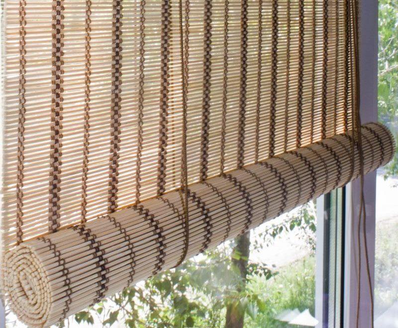 Рулонная штора медного цвета фирмы Эскар